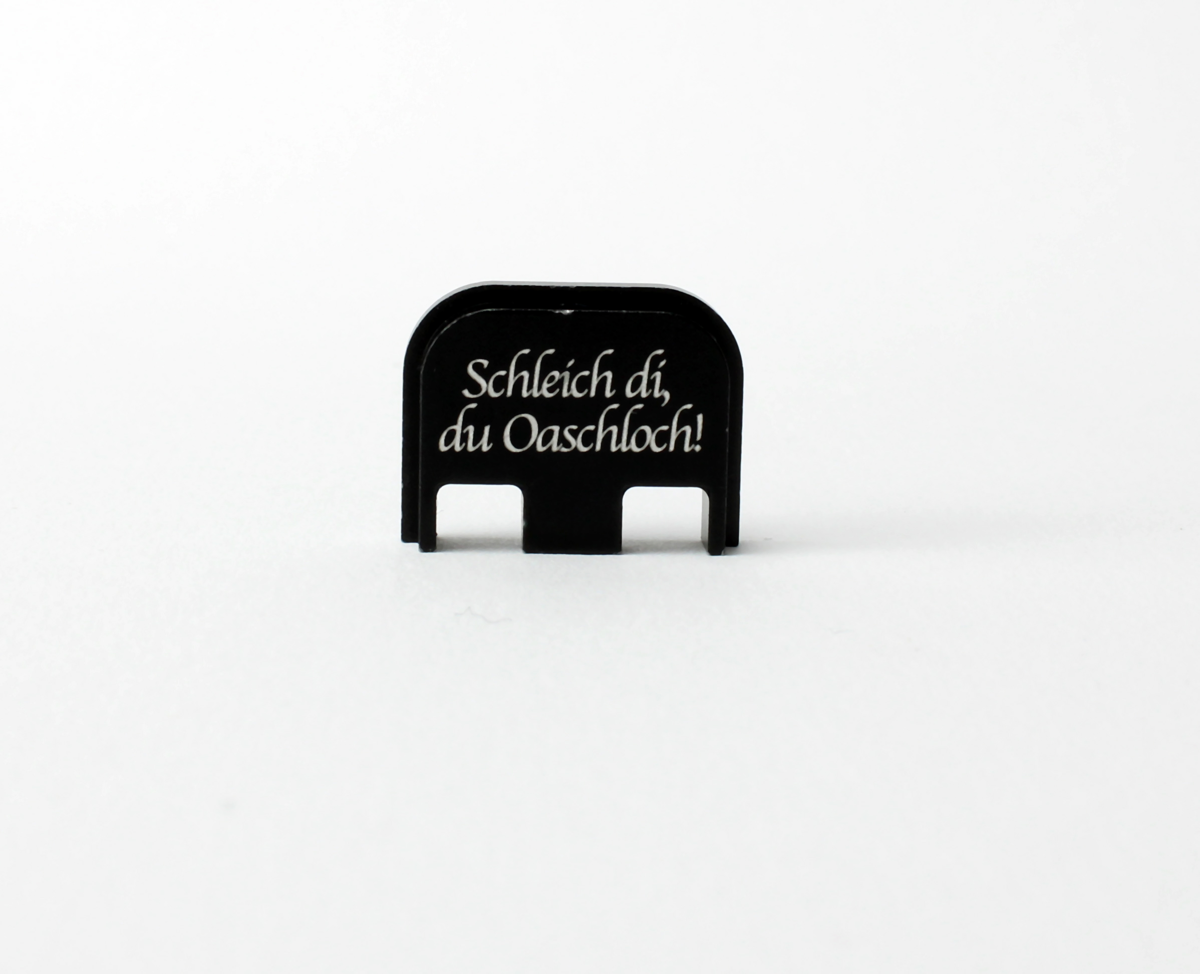 """Glock Backplate """"Schleich di, du Oaschloch!"""" Gen. 1-5"""