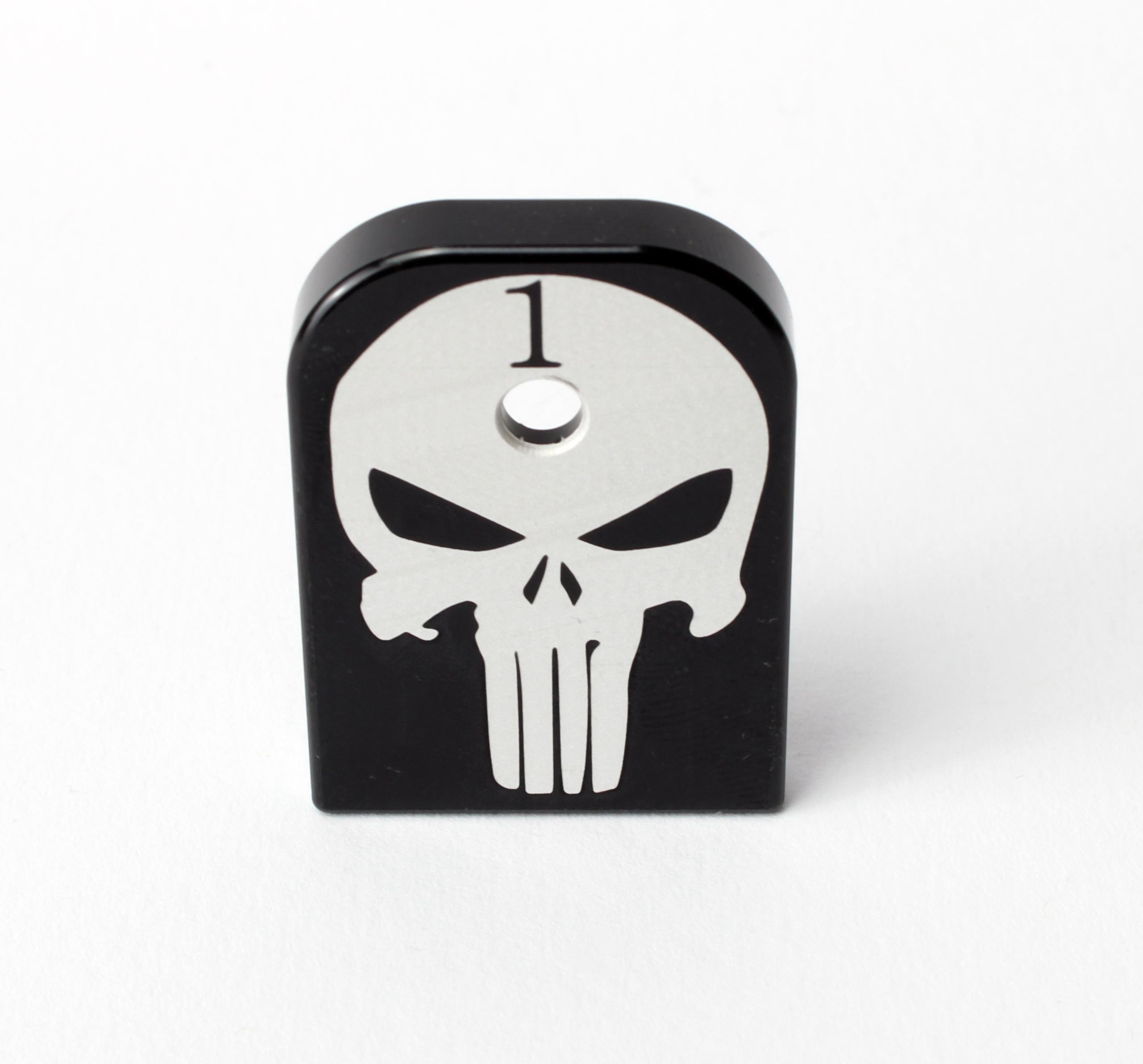 Mag Base Plate für Glock Magazine Punisher mit Nummerierung