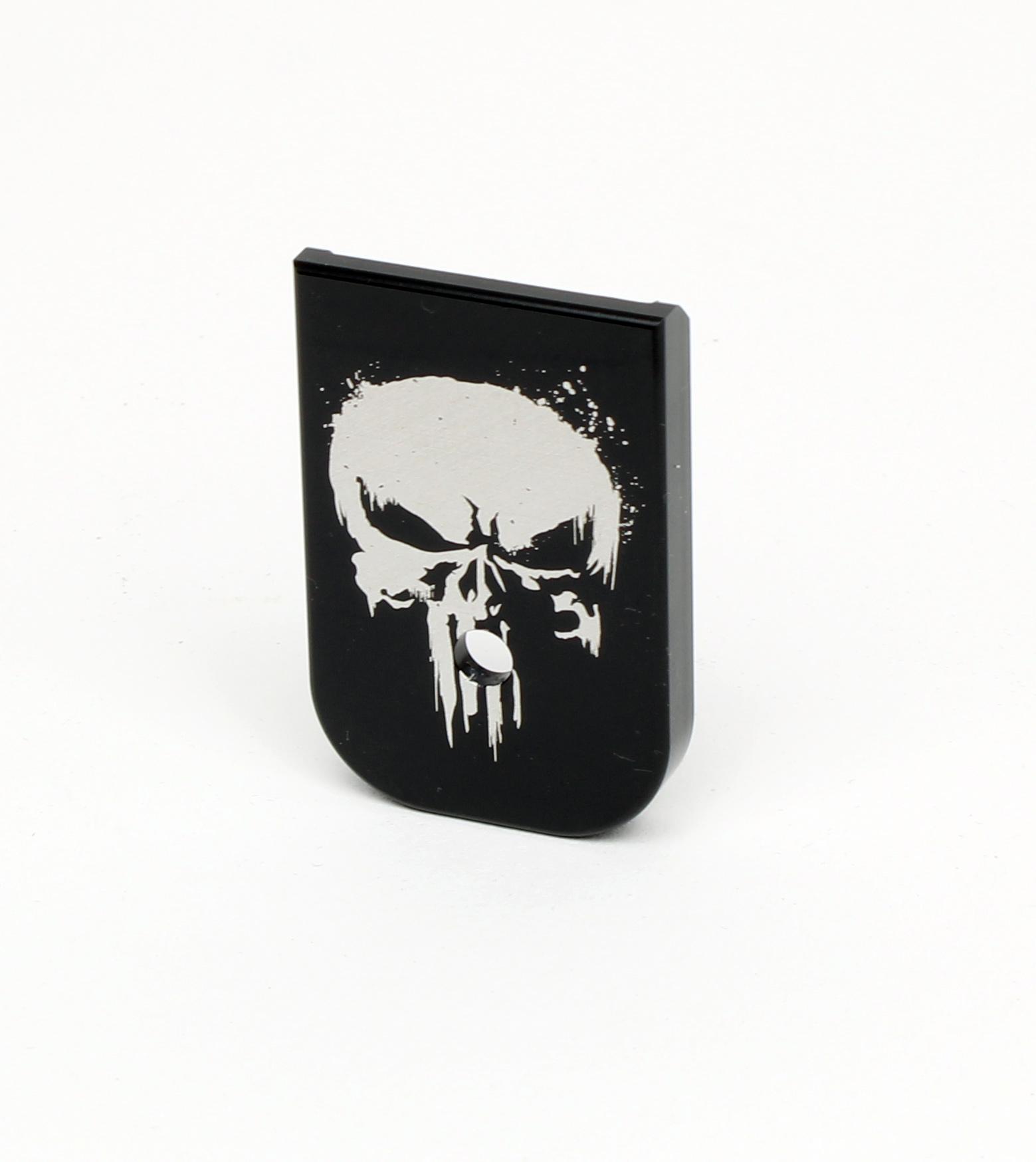 Mag Base Plate für Glock Magazine mit Bad Punisher Motiv